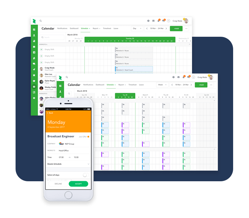 Easily view and automatically update your schedule