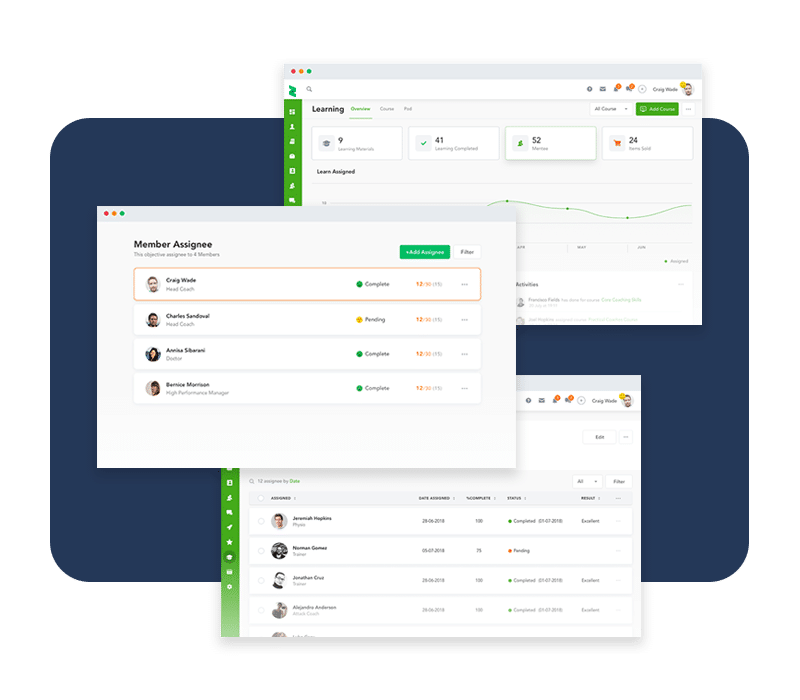 Easily keep track of your team's progress from one place