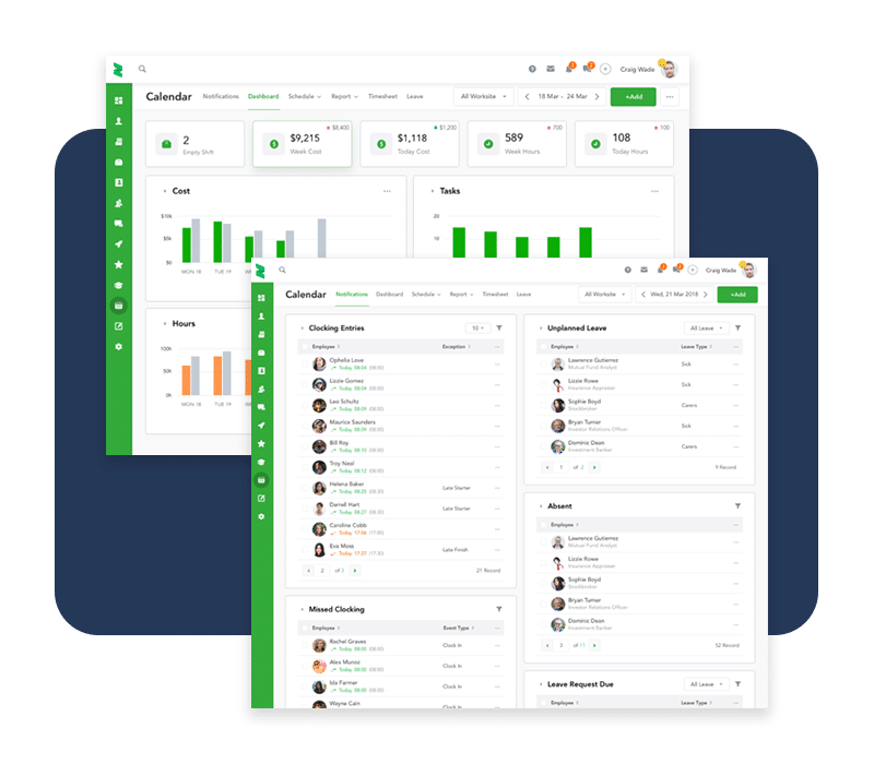 Easy tracking of employee attendance