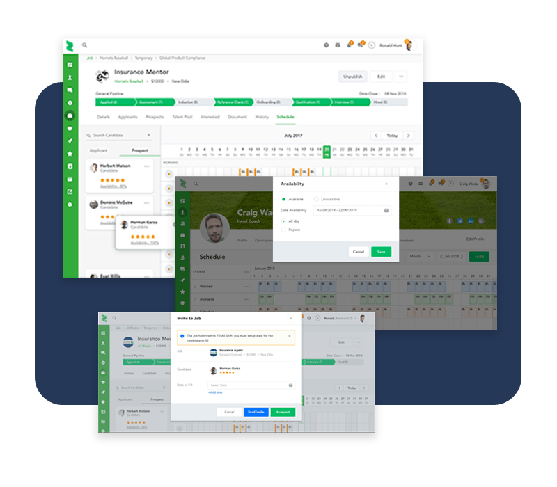 Comprehensive scheduling with drag and drop edit functionality