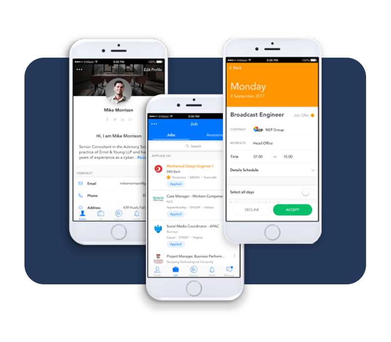 Recruit Complete mobile app